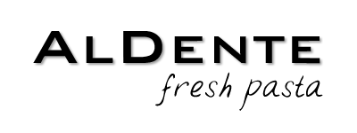 logo al dente fresh pasta black