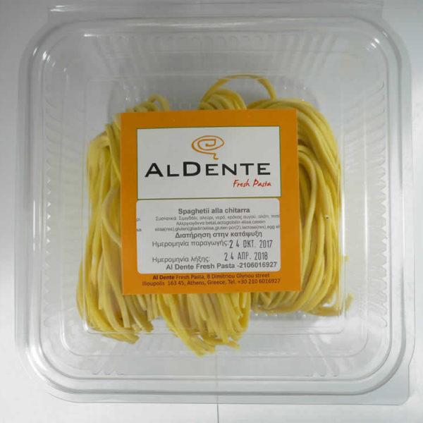 Spaghetti alla chitarra - τετράγωνο σπαγγέτι