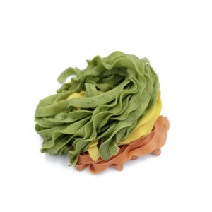 Tagliatelle tricolore: Tagliatelle με αυγό - Tagliatelle με ντομάτα - Tagliatelle με σπανάκι.